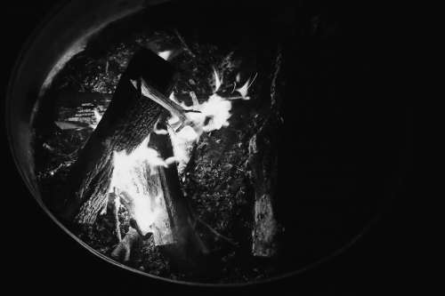 firepit camping adventure