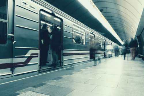 The metro station at Prague