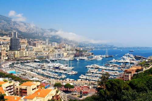 Beautiful view of the center of Monaco