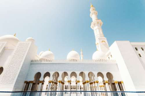 Mosque in Abu Dhabi, the capital city of the United Arab Emirate