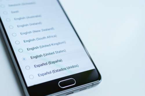 Change language settings in the mobile app