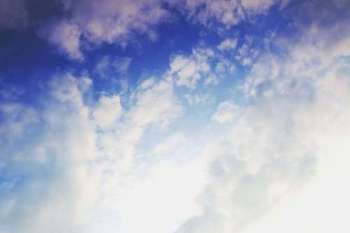Beautiful view of blue sky with clouds
