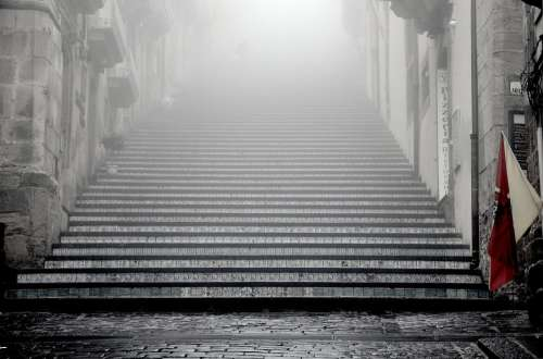 Stairs In The Mist