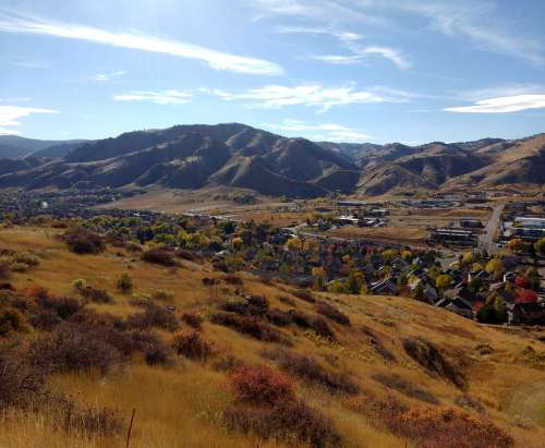 Autumn View of the Foothills