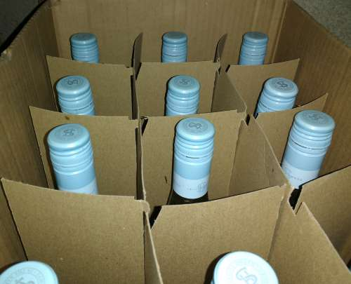 Case of Wine Bottles