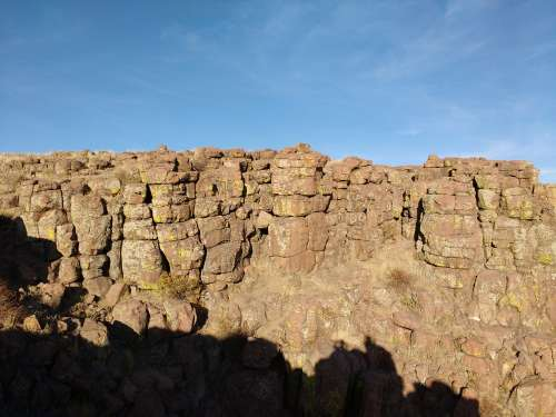 Cliff Face with Broken Rocks