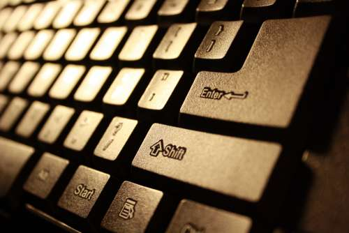 Computer Keyboard Closeup