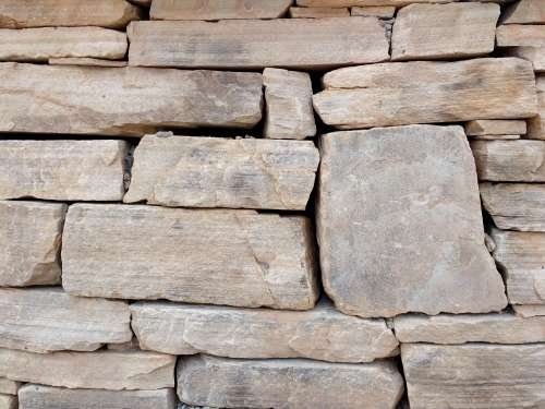 Dry Stack Sandstone Wall Texture