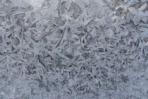 Frost Crystals on Glass Texture