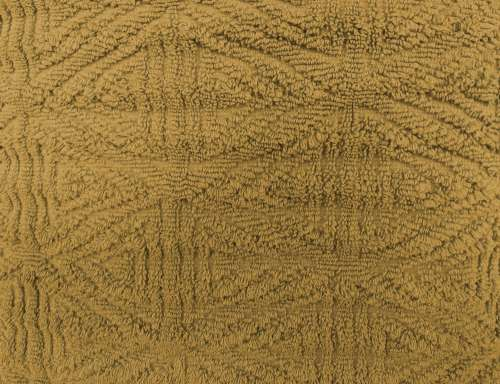 Gold Textured Throw Rug Close Up