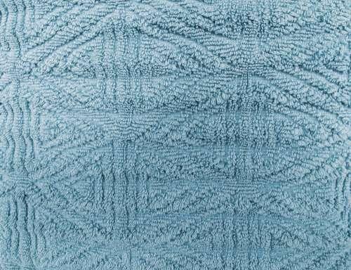 Light Blue Textured Throw Rug Close Up