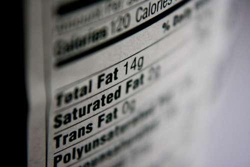 Nutrition Label Fat Content