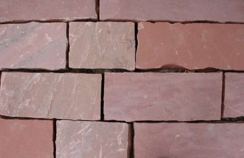 Red Flagstone Blocks Texture