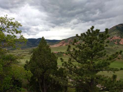 Red Rocks Park through the Trees