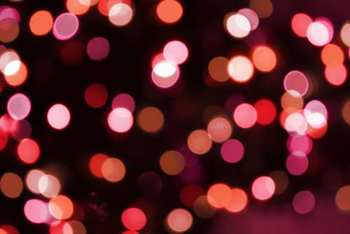 Soft Focus Red Christmas Lights Texture