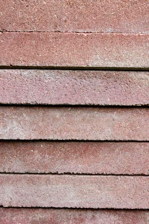 Stack of Red Paver Bricks