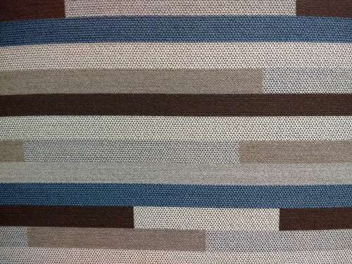 Striped Brown and Blue Upholstery Fabric Texture