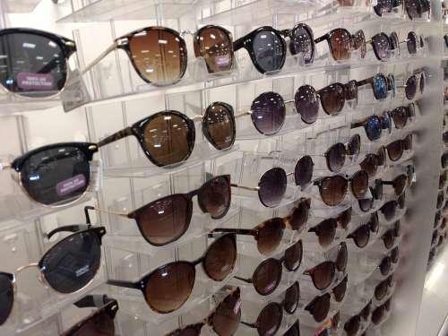 Sunglasses Displayed at Store