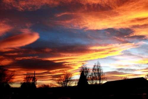 Sunset Over Neighborhood