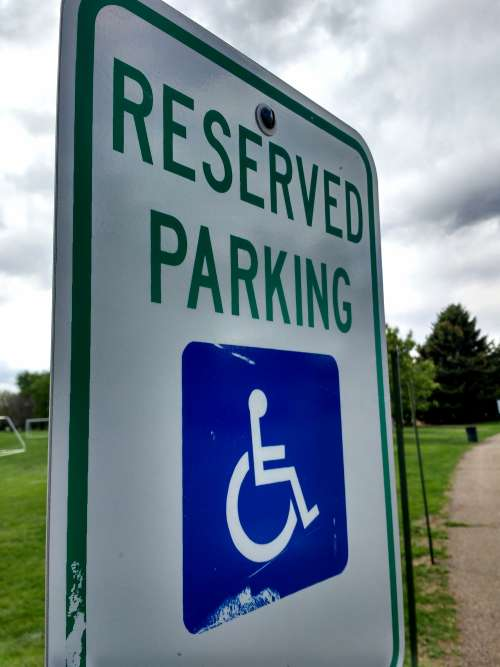 Wheelchair Reserved Parking Sign