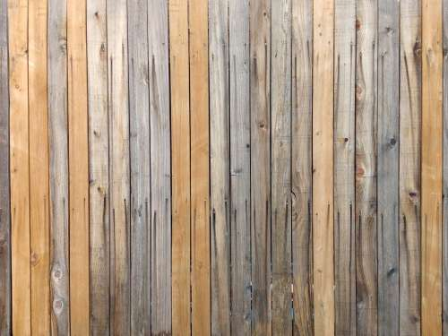 Wood Fence Boards Texture Tan and Gray