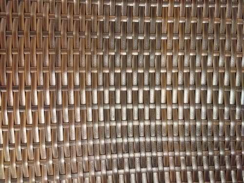 Woven Plastic Texture Copper
