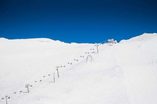 Blue Sky & White Snow