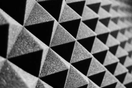 Acoustic Foam Close Up