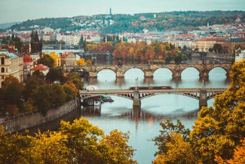 Autumn Colors in Prague, Czechia