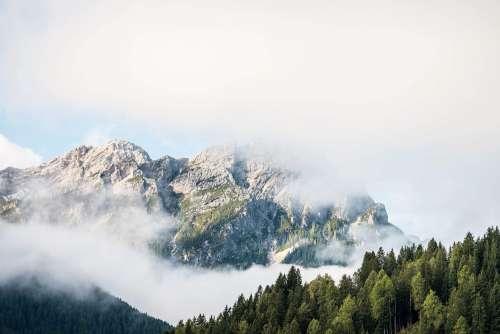 Beautiful Mountain in Cloudy Morning