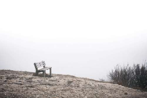 Lonely Bench at The End of The World