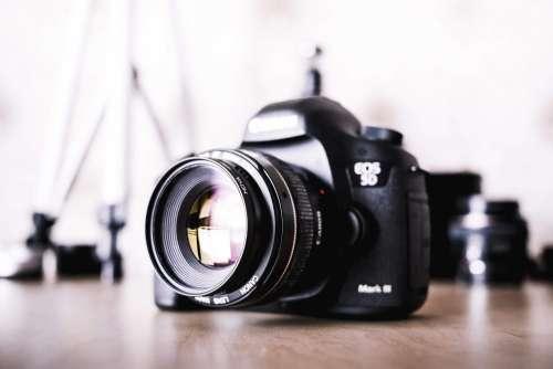 Big DSLR Camera and Equipment