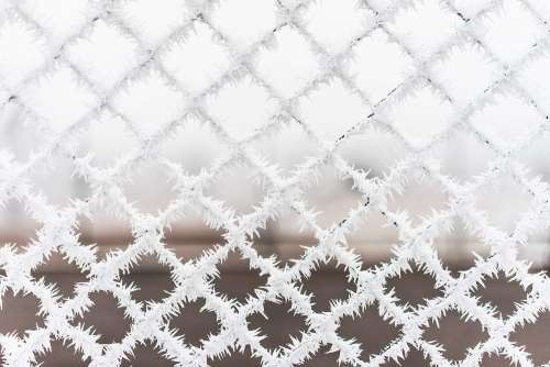 Bitter Cold Hoarfrost vs. Steel Fence