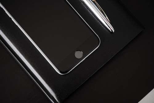 Black Desk, Black Diary, Black Smartphone