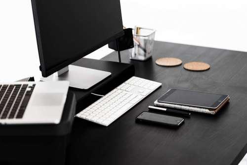 Black Modern Minimalistic Desk