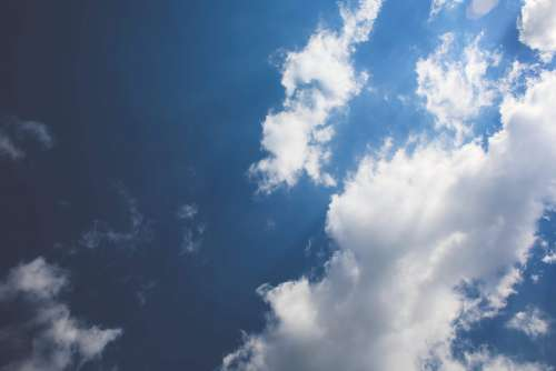 Blue Sky / White Clouds