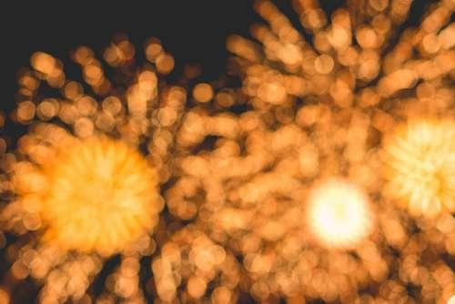 Bokeh Classy Golden Fireworks Lights Background #2