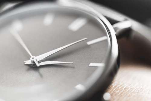 Classic Minimalistic Watches on Wrist Close Up