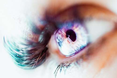 Colorful Macro Image of Human Eye