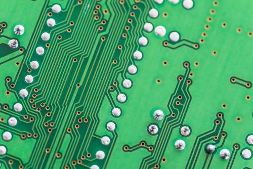 Electronic Circuit Board Close Up Background