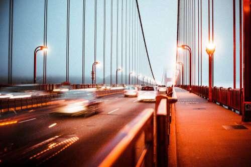 Evening Traffic on the Golden Gate Bridge
