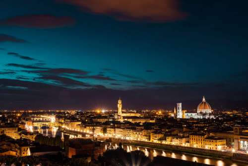 Florence, Italy at Night