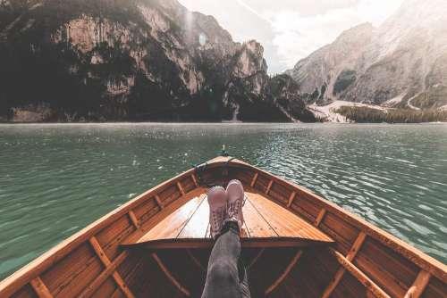 FPV Woman Legs on a Rowing Boat