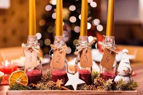 Handmade DIY Advent Candle