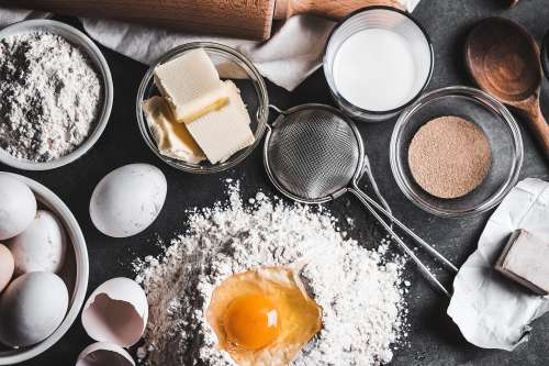 Ingredients for Homemade Baking
