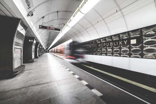 Prague Metro Subway Public Transport Station