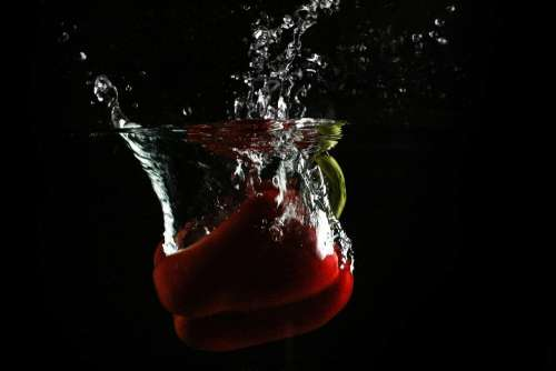 Red Paprika in Water