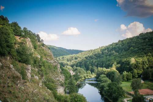 River Between Vranov Mountains