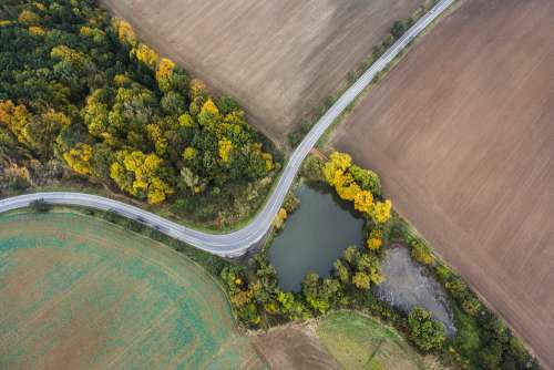 Road from Above Bird's View