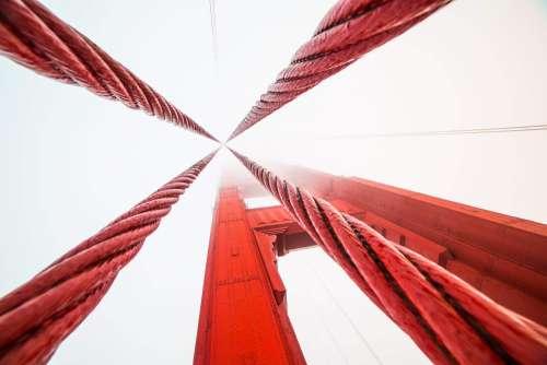 Ropes on The Golden Gate Bridge in San Francisco